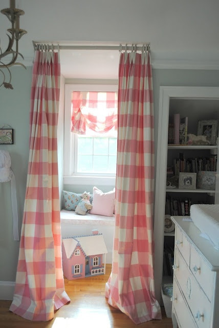 Large gingham curtains - I can't help myself...