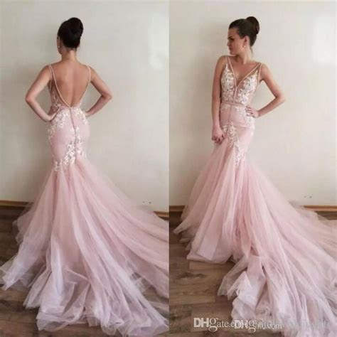 Charming Light Pink Country Style Mermaid Wedding Dresses
