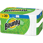 Bounty Paper Towels, Select-A-Size, 2 Ply - 12 rolls
