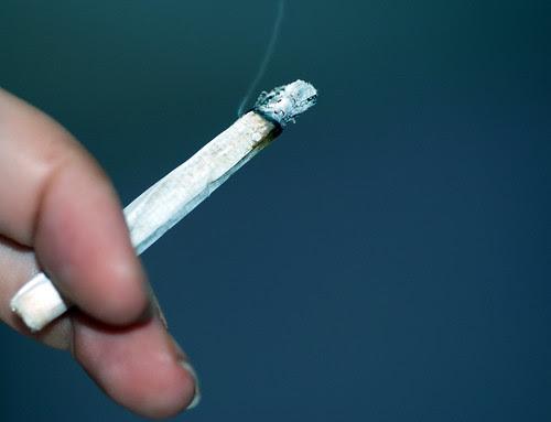 Smoking A Roll-Up