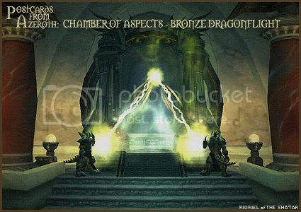 Postcards of Azeroth: Chamber of Aspects - Bronze Dragonflight, by Rioriel Ail'thera