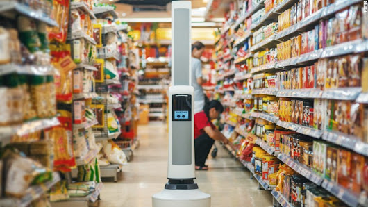 Why is this robot in the grocery store?