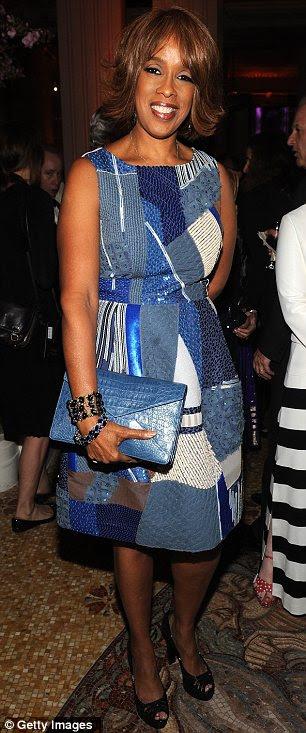 Vestida para impressionar: Anna Wintour (L) e Gayle King optou por vestidos estampados de verão para assistir à gala