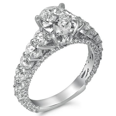 2 3/4cttw Round Shared Prong Designer Engagement Ring