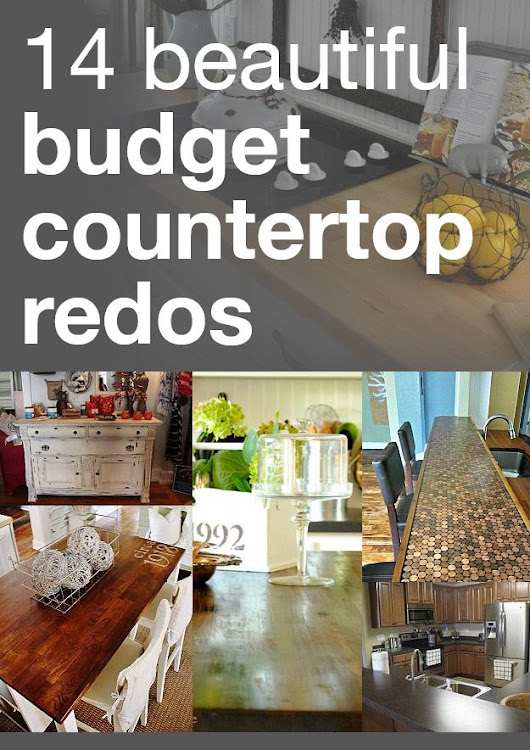 Decor Hacks : 14 beautiful budget countertop redos @Emily Northup who may find this interestin... - Decor Object | Your Daily dose of Best Home Decorating Ideas & interior design inspiration