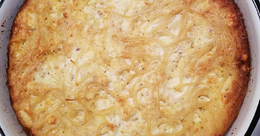 Baked Spaghetti with Milk and Eggs (Pasticcio) - Mimis Recipes