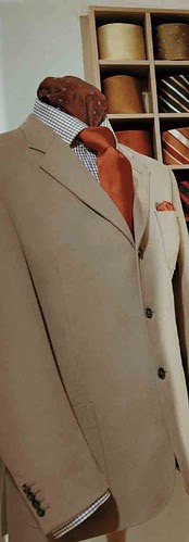 Knize tan 3 button jacket