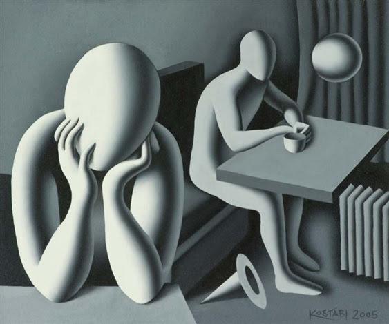 Please Dont Leave Me Alone By Mark Kostabi On Artnet