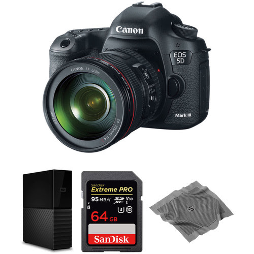 EOS 5D Mark III DSLR Camera with 24-105mm Lens and Storage Kit