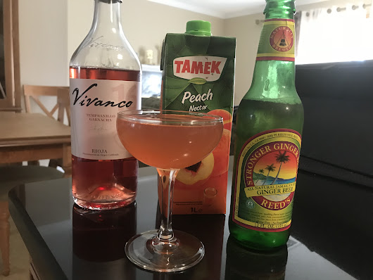 Peaches & Rosé Cocktail - Beauty Loves Booze