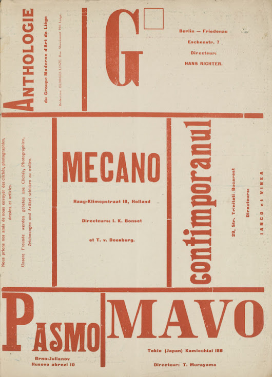Monoskop Releases Archive of Avant-Garde and Modernist Magazines