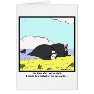Beached Whales Greeting Cards