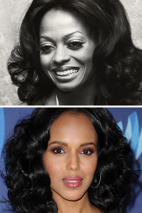 Bir günümüz Diana Ross gibi, Washington saçını bu omuz uzunlukta coif ile büyük bir ivme verdi.