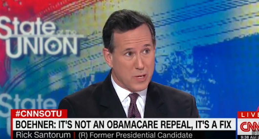 CNN's Rick Santorum: 'Millions' of Americans using pre-existing conditions to scam health care