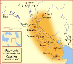 Babylon at the time of the Kassites (MapMaster)