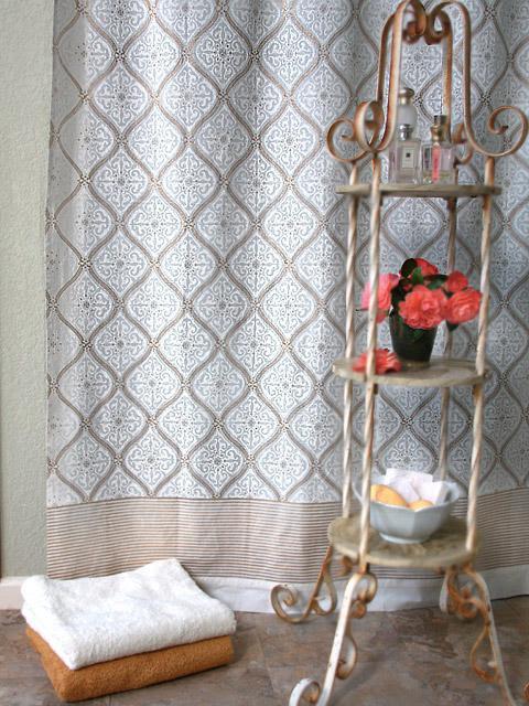 Indian Shower Curtains, Batik Shower Curtain, Fabric Shower ...