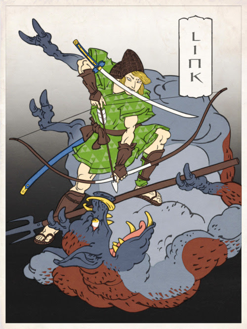 Link as a Ukiyo figure