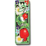 Small Wooden Mezuzah Case Flowers Floral Butterflies Birds Shin, 3.75 inch, Green