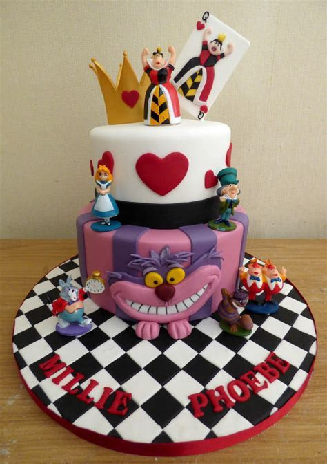 Alice In Wonderland Themed 2 Tier Birthday Cake « Susie's