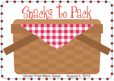 Gluten-Free Weekly Menu Plan - Pack Gluten-Free Snacks