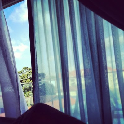Lazy on bed~ #morning #sky (Taken with Instagram)