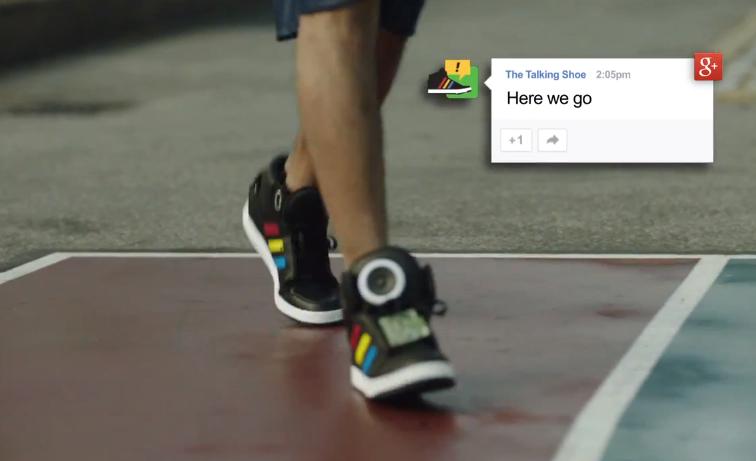 'Talking Shoe', o tênis falante desenvolvido pelo Google que interage com a internet
