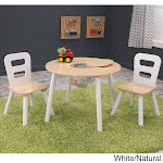 KidKraft 3-piece Round Table and Chair Set White