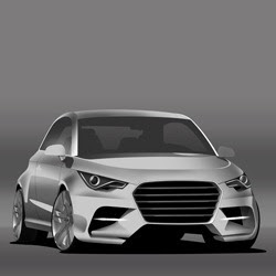 Audi A1 Digital Car Painting Photoshop Tutorial