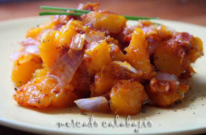 Salteado de calabaza y bacon mercado calabaj o - Pure de patatas y calabaza ...