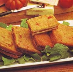 sanwiches in carrozza,pane in carrozza,prosciutto cotto,sanwiches,