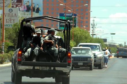 Patrullaje de la Policía Federal en Nuevo Laredo. Foto: Benjamín Flores.