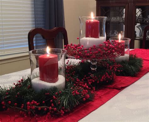Christmas centerpiece with Epsom salts, inexpensive glass