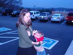 parking lot baby rage!