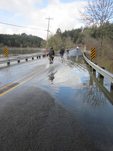 Killin Wetlands overflowing the road