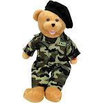 "Chantilly Lane 19"" American Hero Army Bear Sings Army Goes Rolling Along"