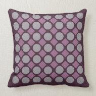 Purple dot pillow throwpillow