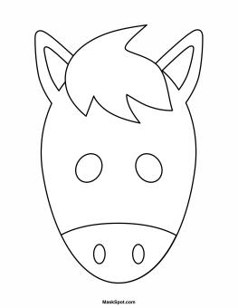 Printable Horse Mask