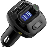 Mpow BMBH121AB T2.0 Mini FM Transmitter with Dual USB Ports