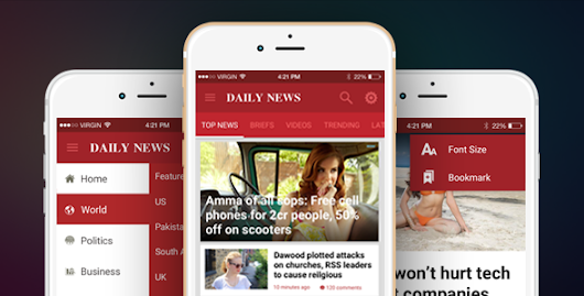 Download Source code Ionic Theme, Ionic Template for Mobile News, Blog, Magazine Application - DailyNews nulled | OXO-NULLED