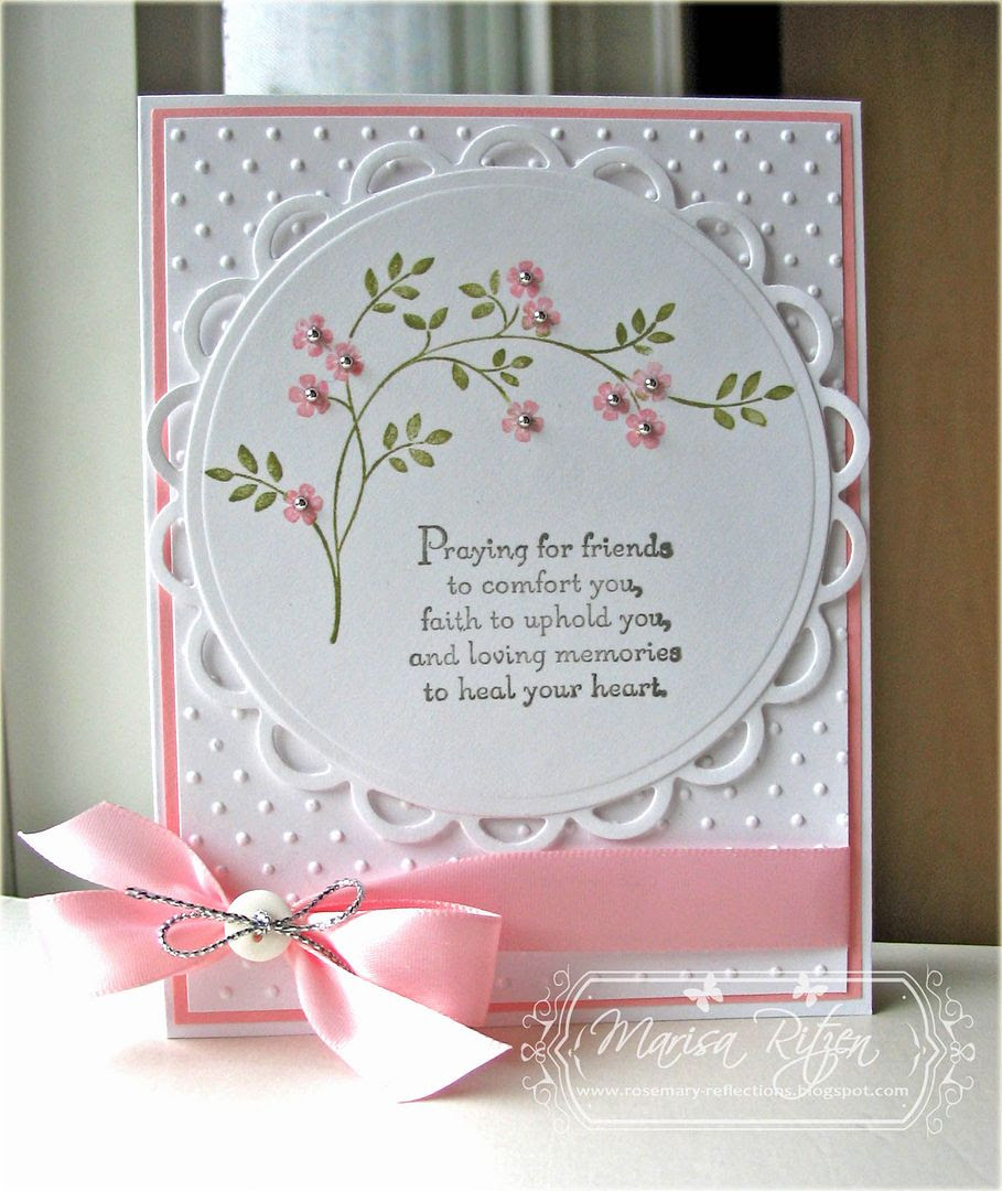 rosemary reflections  a simple sympathy card
