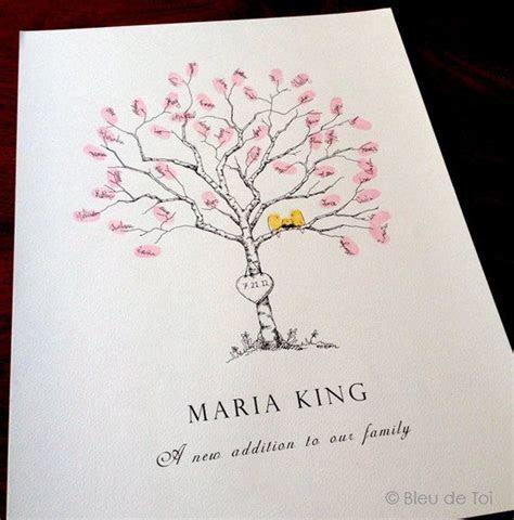 Baby shower Guest Book Alternative Fingerprint Tree Small