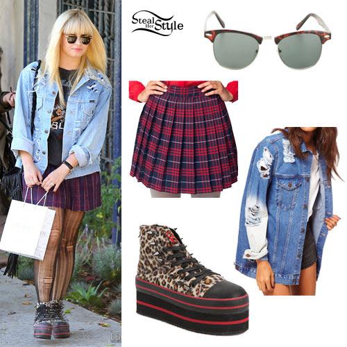 Demi Lovato: Leopard Platform Sneakers