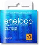 SANYO eneloop ニッケル水素電池 単4形 4本パック HR-4UTG-4BP