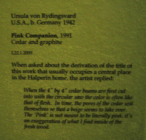 Pink Companion, 1991 - Ursula von Rydingsvard, Cedar and Graphite