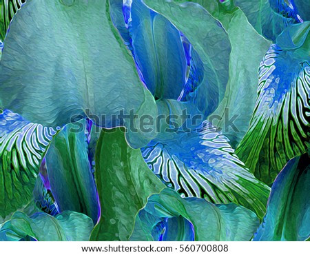 Elegant and gestural Iris background illustration.