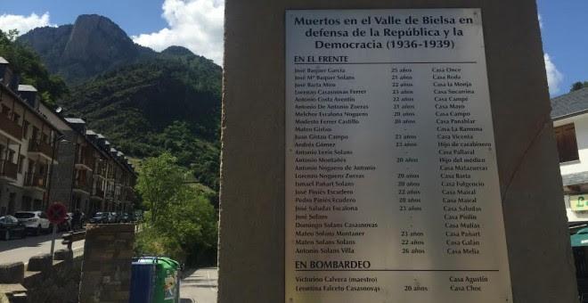 Muertos en el Valle de Bielsa en defensa de la República y de la democracia.- GARCÍA LONGÁS