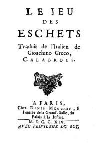 Frontespizio del Trattato in una edizione francese a stampa del 1714