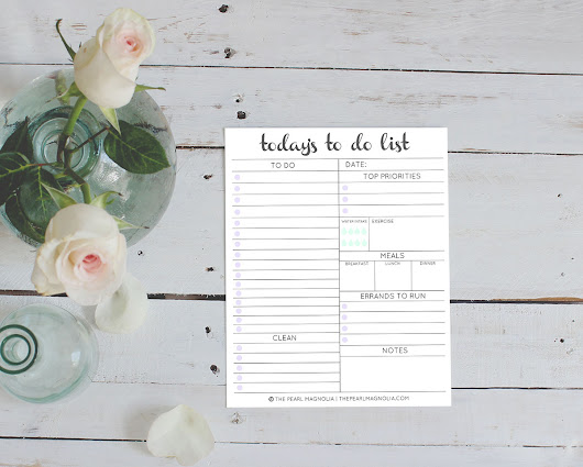 Daily To Do List Free Printable - The Pearl Magnolia
