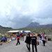 Tourists visit Mount Merapi.