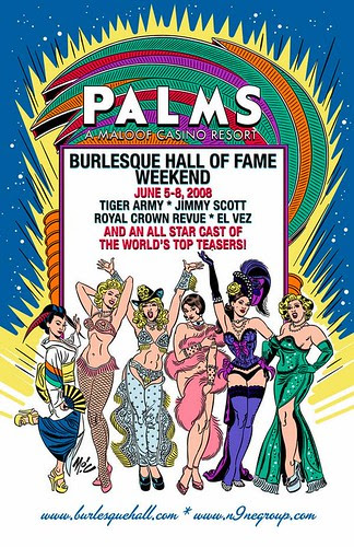 Burlesque Hall of Fame Flyer